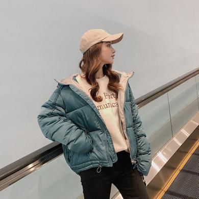搭歌2019新款韓版冬裝時尚寬松學生閨蜜外套短款棉衣潮女 B3837