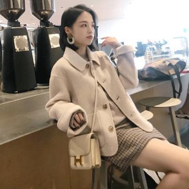 CAVS早秋新款兩件套裙2019嬌小女裝矮個子時髦套裝潮洋氣小香風裙子女HDZ132