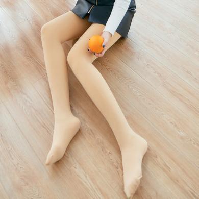 库依娜秋冬肤色光美腿高密锦纶打底裤加绒裸感婴儿绒一体裤外穿连裤袜B418