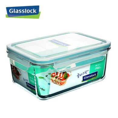 glasslock进口便当盒长方形耐热玻璃饭盒微波炉保鲜盒带盖玻璃碗MCRB0190/1870ML
