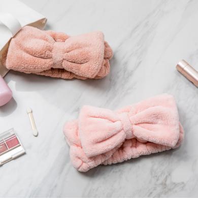 可爱蝴蝶结束发带 可爱甜美系绒布蝴蝶结发箍女头饰洗脸敷面膜发带