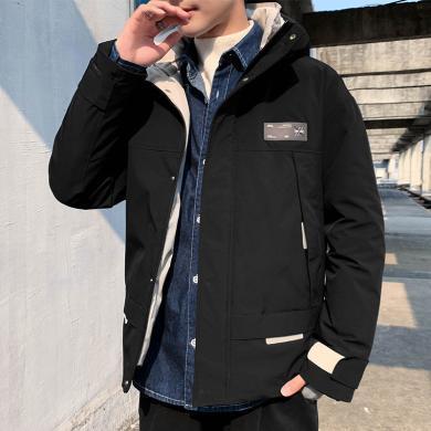 搭歌冬季新款外套韩版男装潮牌棉服青少年运动休闲外套LQ9898