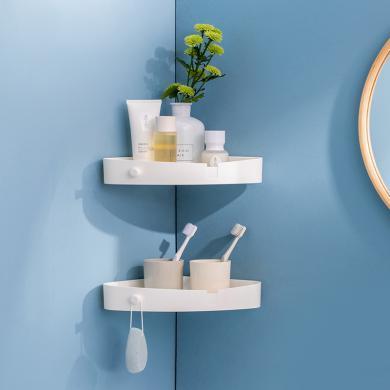 多功能浴室置物架 免打孔廁所洗手間免釘壁掛收納盒多功能盒
