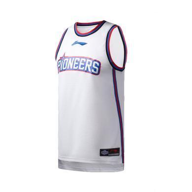 李寧籃球比賽服男士2019新款天津先行者隊籃球系列男裝針織運動服AAYP451