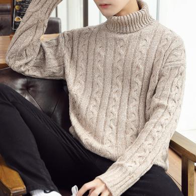 搭歌2019秋季新款半高领毛衣休闲针织衫宽松加厚男装毛衫LQ9919
