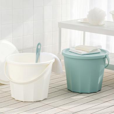 佐敦朱迪大容量水桶 水桶简约北欧风水桶加厚家用拖地桶带盖手提塑料洗衣桶