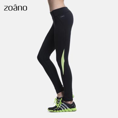 zoano佐纳 训练裤修身显瘦长裤运动服女紧身健身裤加大跑步运动裤子