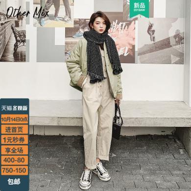 七格格工装棉服女韩版宽松学生2019新款冬季短款棉衣棉袄厚外套潮