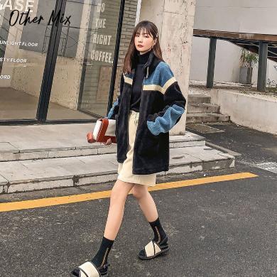 七格格仿皮草外套女冬2019新款韩版拼接中长款显瘦时尚学生上衣潮