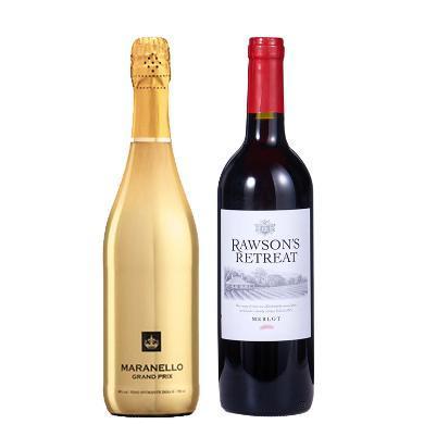 【秒殺兩支裝】奔富紅酒澳大利亞原瓶進口奔富(Perfolds)洛神梅洛紅酒750ml+意大利 原瓶進口 馬拉內羅 金標起泡紅酒750ml