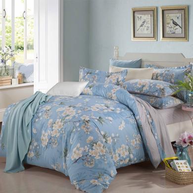 帝豪家纺 床上四件套 纯棉全棉1.2m床 1.5m床 1.8m床上用品 床单被套