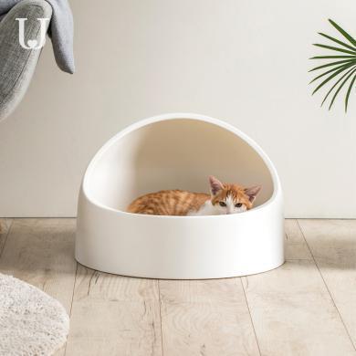 佐敦朱迪貓砂盆 防外濺半封閉式貓廁所除臭貓沙盆貓屎盆大貓咪用品