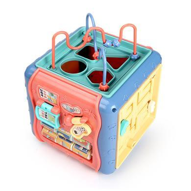 早教益智玩具嬰兒玩具6-12個月寶寶玩具桌多功能六面體益智兒童1-3歲YZQD1689-50