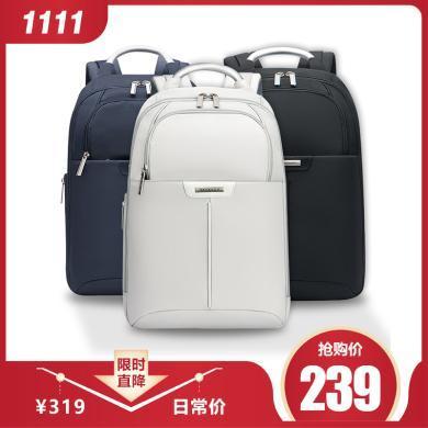 【到手價239】新秀麗 韓版休閑旅行背包 男女13英寸商務電腦包拉鏈雙肩包BP2