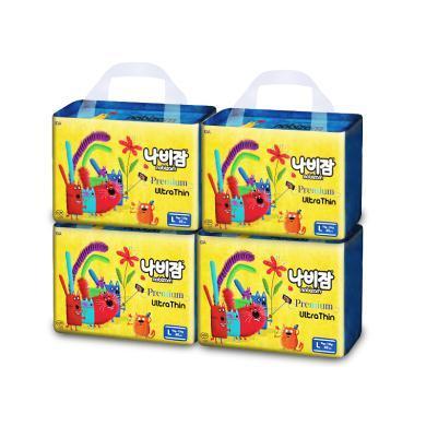 Nabizam韩国新生儿初生婴儿尿不湿纸尿片轻薄?#38041;?#31995;列L号4包装