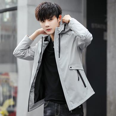 俞兆林男裝 夾克外套新款外套男夾克潮流夾克飛行員夾克棒球服休閑夾克外套休閑夾克茄克夾克上衣外套夾克外套 MB1802