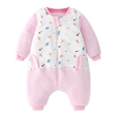 班杰威尔纯棉宝宝睡袋秋冬季幼儿童中大童防踢被神器加厚四季通用
