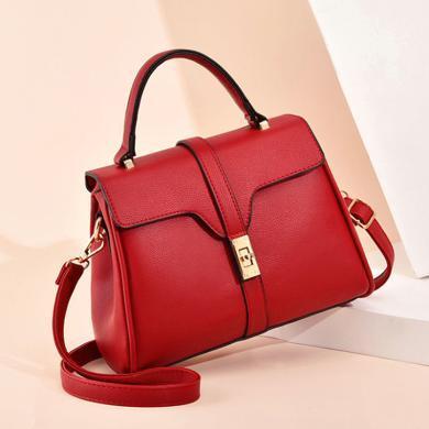 GSQ古思奇新款包包单肩包纯色休闲手提小方包斜挎包女包N1423