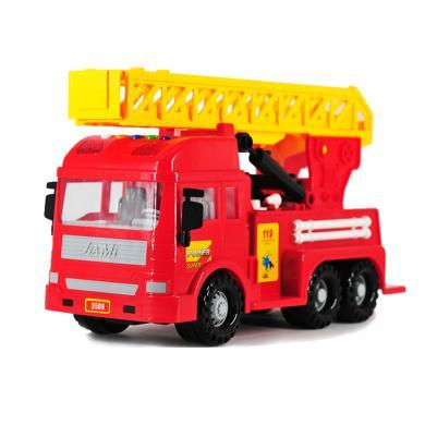 甲米電動帶音樂消防車慣性兒童工程車模型玩具3508