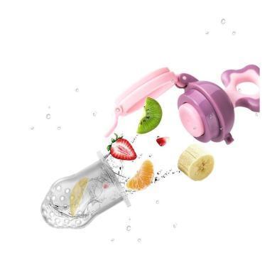 小白熊 水果咬咬果蔬乐 宝宝磨牙棒 婴儿咬咬袋 奶嘴辅食器 硅胶牙胶