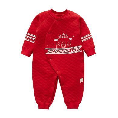 班杰威爾新生嬰兒衣服嬰兒春裝初生寶寶連體衣春秋哈衣純棉春秋爬服外出服