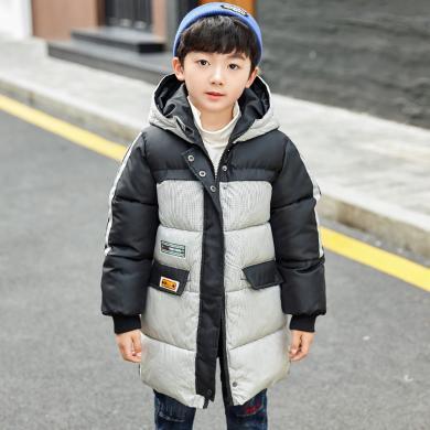 菲菲虎兒童棉服冬裝加厚冬季新款中大童保暖連帽男童面包服棉衣童裝19006