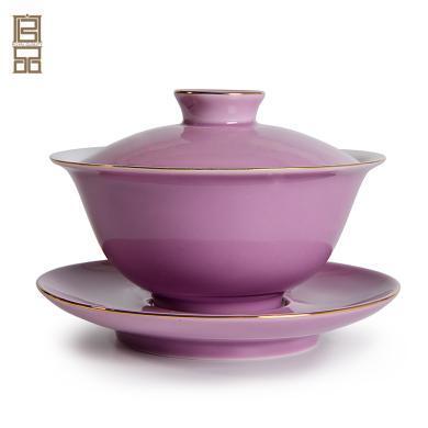 祥福功夫茶具套装盖碗 日式家用三才茶碗泡茶器景德镇陶瓷手抓壶