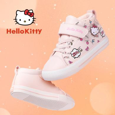 HelloKitty童鞋女童棉鞋時尚冬季新款女孩加絨加厚運動鞋二棉鞋子K9547822