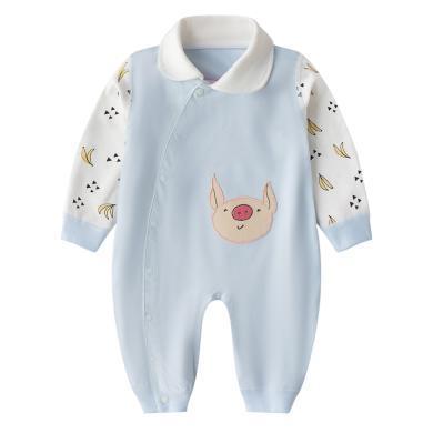 班杰威爾純棉嬰兒春秋套裝新生兒衣服和尚服