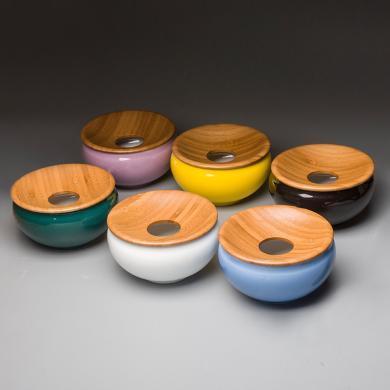 祥福陶瓷大號有蓋 功夫茶具套裝洗杯碗 茶道配件擺件水盂筆洗
