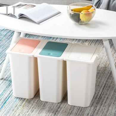 分類垃圾桶 客廳家用帶蓋創意卡扣大號廚房按壓式垃圾桶