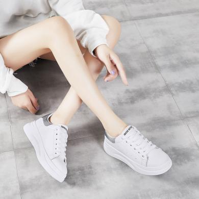 網紅同款女鞋智熏韓版ins超火學生板鞋小白鞋潮鞋YG-C19