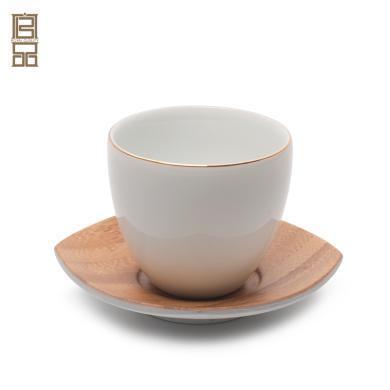 祥福 功夫茶具茶艺杯子陶瓷 日式茶道配件品茗杯茶艺表演培训茶杯