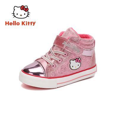 HelloKitty童鞋女童棉鞋2019冬季新款女孩二棉運動鞋加絨保暖鞋K9547833