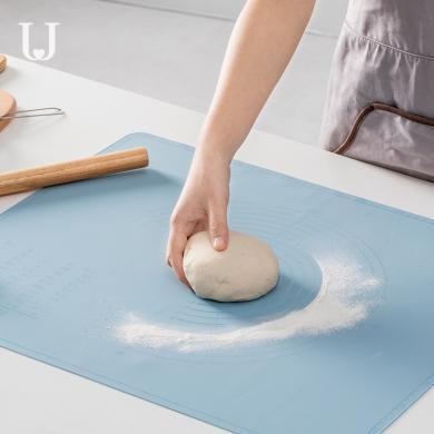 佐敦朱迪硅胶揉面垫 大号加厚擀面垫家用烘焙工具揉面垫食品级