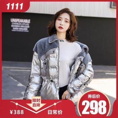 熤笙靘 2019冬季韩版新款女式棉衣短款棉袄羽绒棉服女外套    Q2931-1