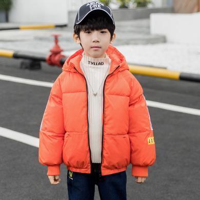 菲菲虎男童短款棉衣外套冬裝2019新款兒童加厚棉襖中大童棉服洋氣童裝外套19009
