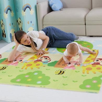 VIPLIFE地墊 寶寶爬行墊可折疊地墊/雙面花色