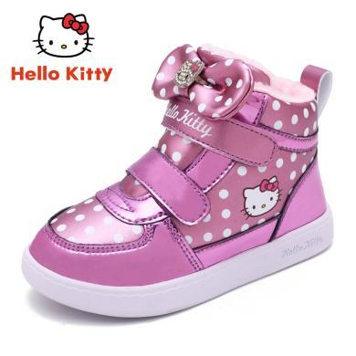 HelloKitty女童鞋棉鞋冬季新款兒童大棉童鞋女孩加棉加厚保暖鞋K7543982