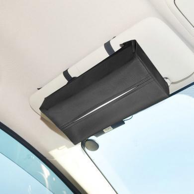 卡饰得 车用多功能纸巾盒 车载遮阳板纸巾套 扶手箱 头枕杆可用 可加挂垃圾袋