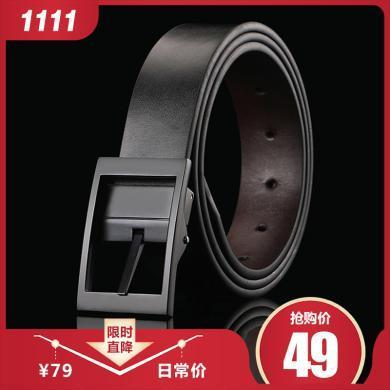 GSQ古思奇 男士牛皮休闲时尚腰带男士皮带针扣皮带PD326