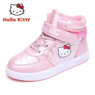 hellokitty童鞋女童棉鞋兒童運動鞋冬季加厚加絨保暖小女孩公主鞋k7543818