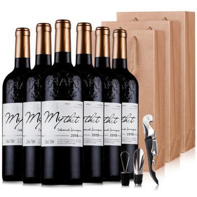 【年后发货,2月4日前】法国原酒进口红酒 蜜黛A级珍藏干红葡萄酒整箱礼盒750ml*6