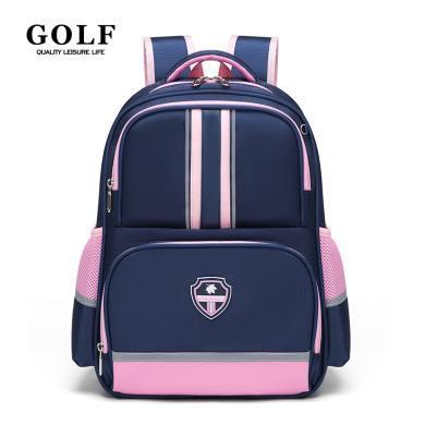 高爾夫GOLF小學生書包大容量多隔層英倫時尚雙肩背包休閑學院風女童書包 D933895