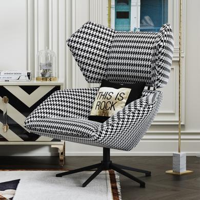 慕梵迪 休閑椅 實木框架+優質布藝+高回彈海綿+五金腳+五金腳 S-34