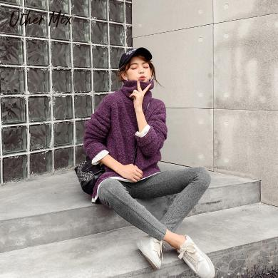 七格格打底褲女外穿2019新款冬季褲子高腰顯瘦長褲修身黑色安全褲