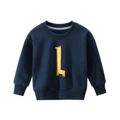 謎子 童裝秋冬新款韓版男女兒童衛衣加絨寶寶衣服中小童套頭衫