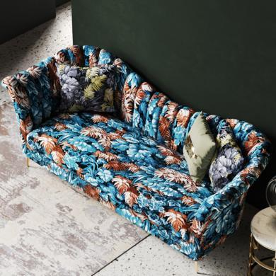 奢恩 沙發 現代輕奢 實木框架+高回彈海綿+布+五金腳 HW-07/S-08-1 沙發