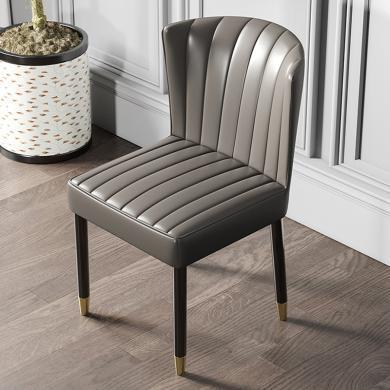 慕梵迪 餐椅 现代轻奢 海棉+优质超纤皮+不锈钢五金电镀钛金 YX-002