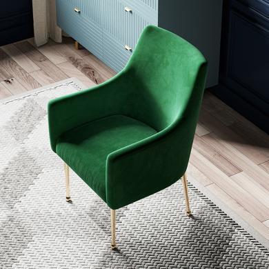 奢恩 餐椅 现代轻奢 实木框架+高回弹海绵+绒布+五金脚 YX-034